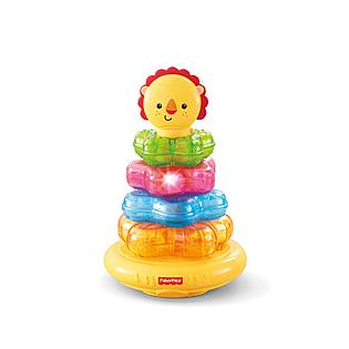 TOY fisher price lion lights and music stacking toyw