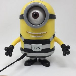 Special needs toy. Switch adapted Minion Carl. Says silly minion sounds and phrases.