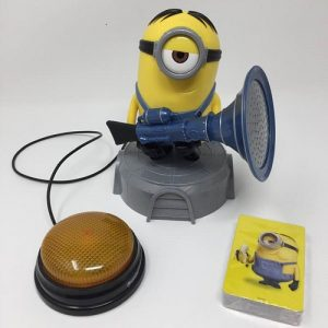 Special needs toy. Switch adapted fun Minion game and fart blaster in one.